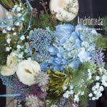 Decoración de boda azul