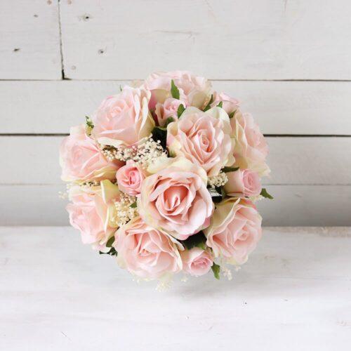 ramo de novia rosa palo