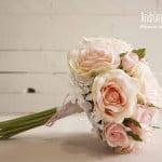 Ramo de novia de flores de tela