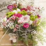 centro de flores naturales