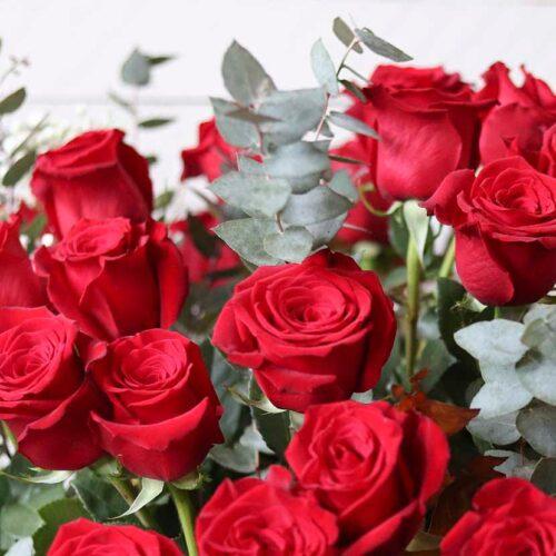 ramo de cuarenta rosas